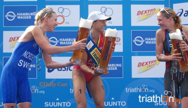 Bière à l'arrivée d'un triathlon