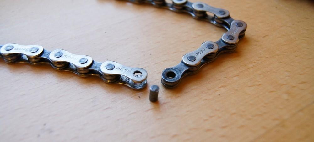 Dériver chaîne de vélo