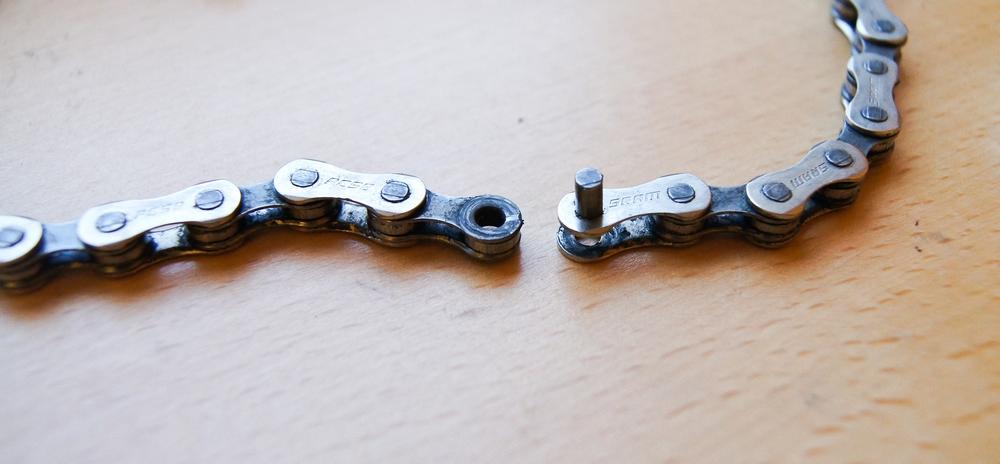 Désassembler chaîne de vélo