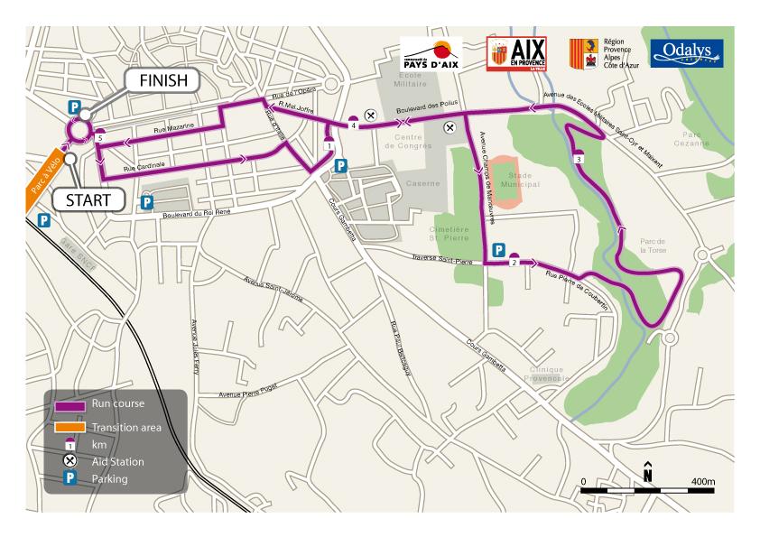 Parcours course à pied 70.3 du Pays d'Aix