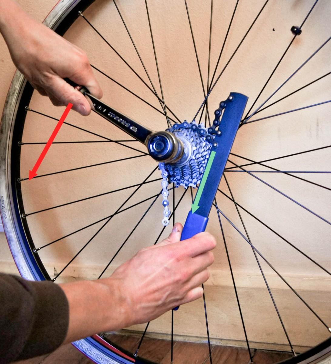 Démontage cassette de vélo 1