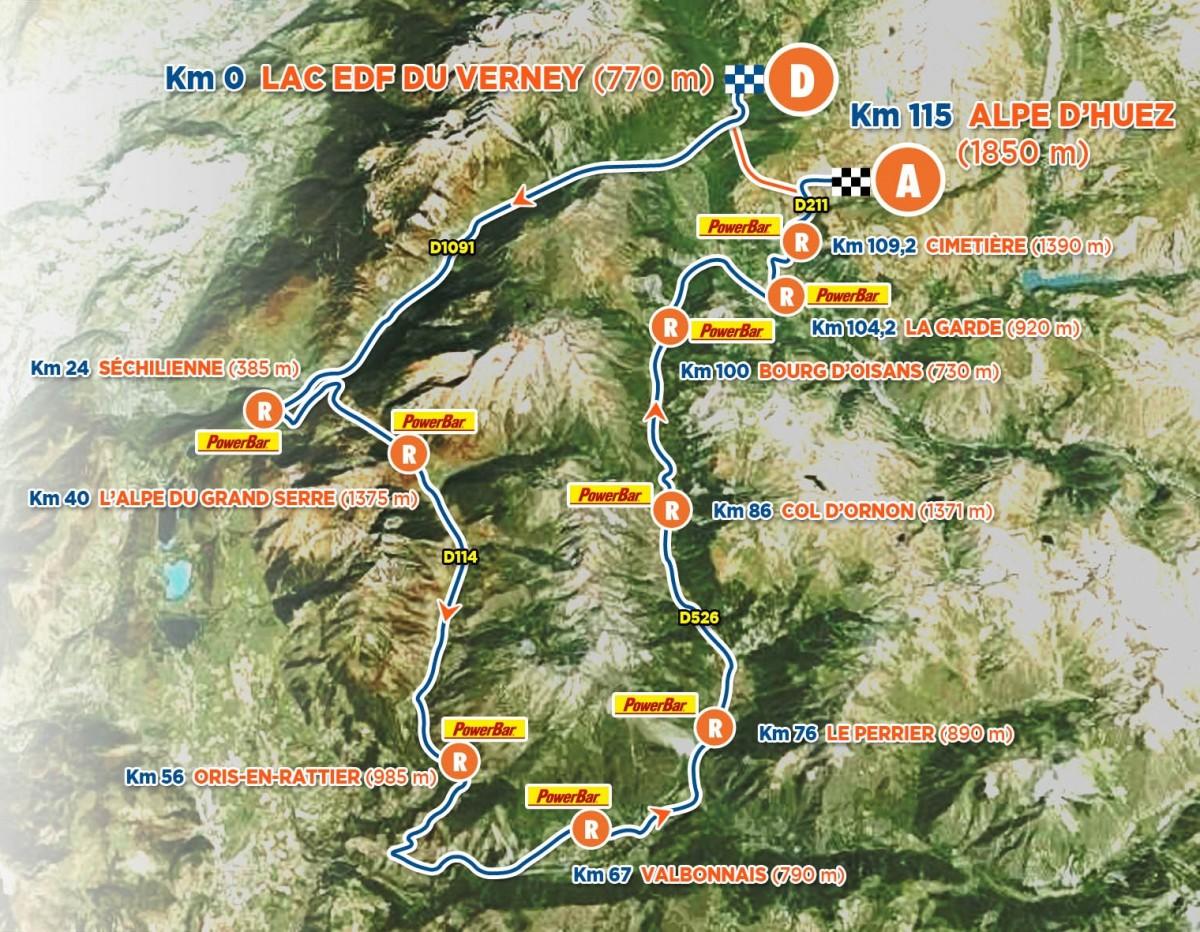 Parcours vélo triathlon Alpe d'Huez