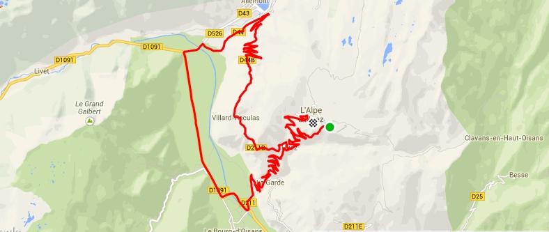 Alpe d'Huez par Villard Reculas