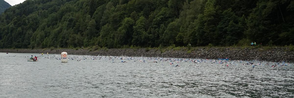 Natation triathlon LD de l'Alpe d'Huez