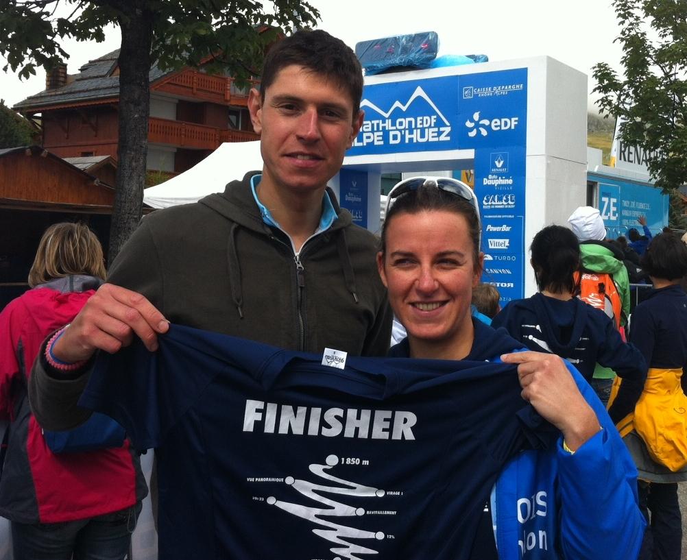 Photo finish triathlon LD de l'Alpe d'Huez