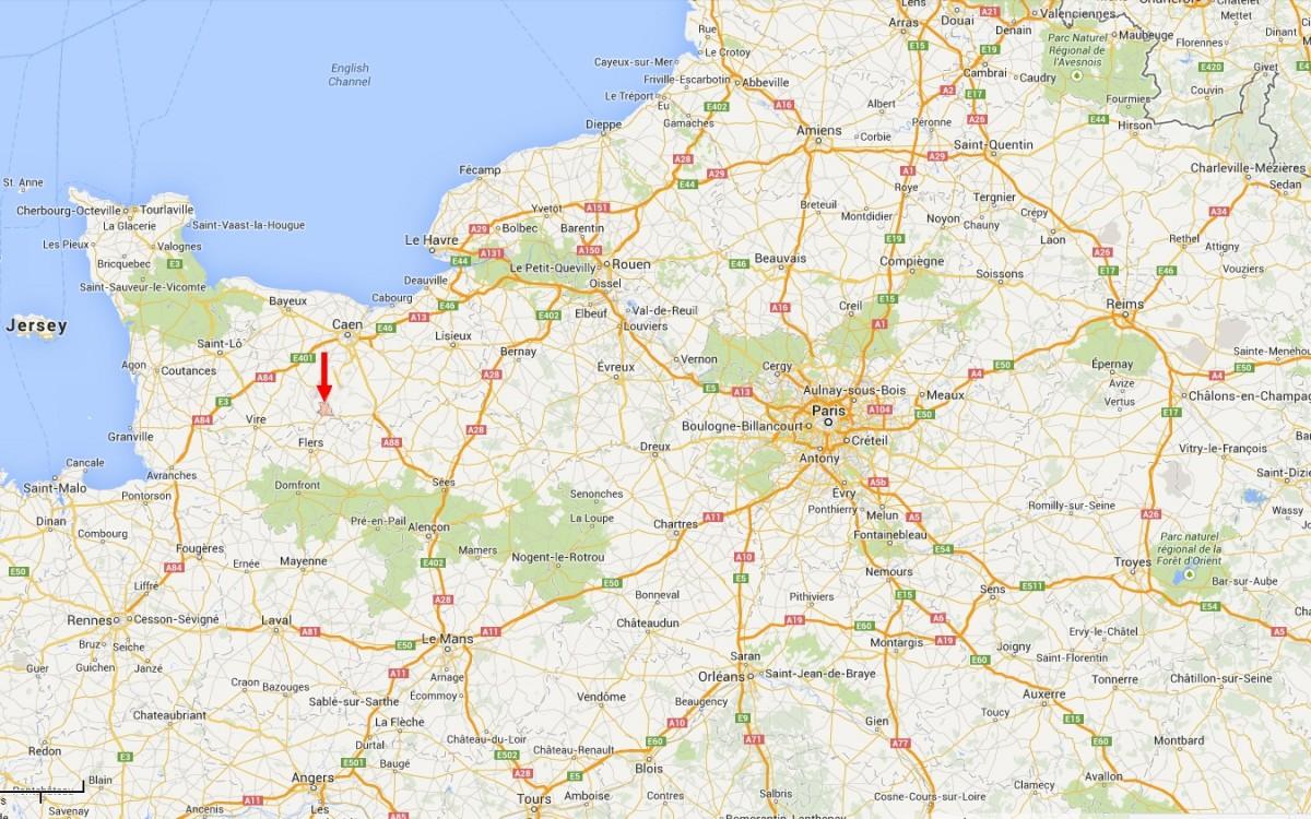 Situation géographique de la Suisse Normande