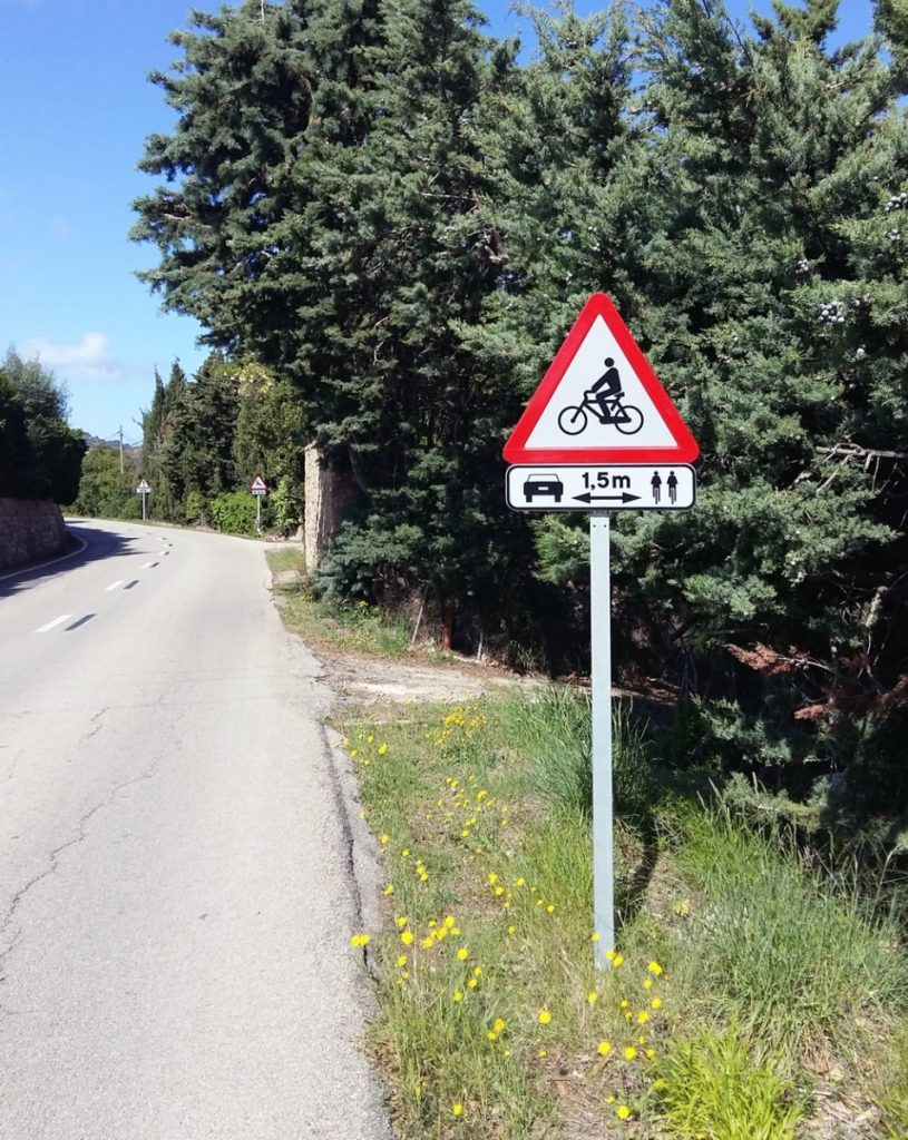 Panneau vélo Majorque