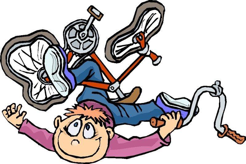 accident vélo humour